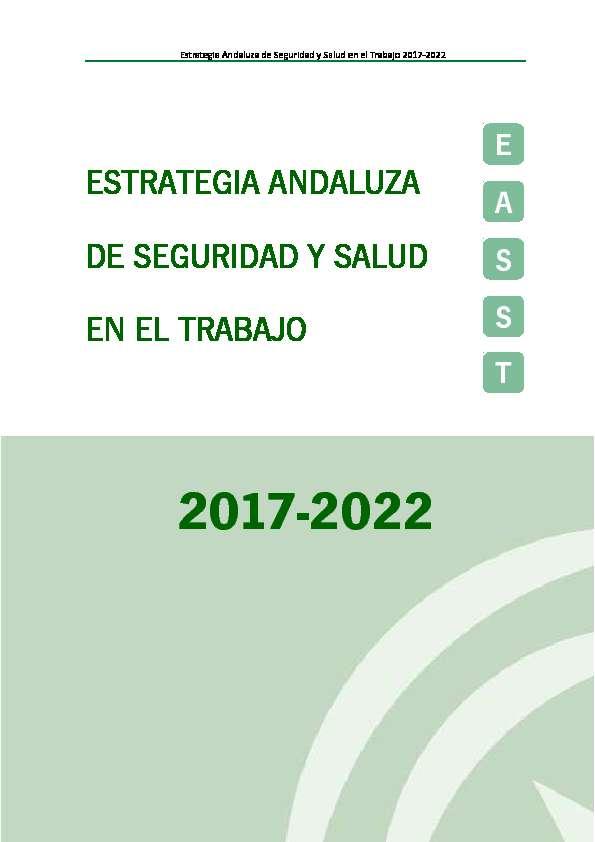 Estrategia Andaluza de Seguridad y Salud en el Trabajo